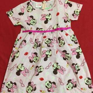 Dress anak minnie mouse