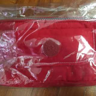 Kipling 3-zipper Pouch w/front Pocket (New)