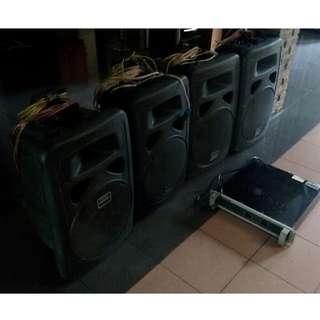 Set sound (massive) system Visioneer 4 Speakers + Ampli