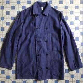 Vintage French ROFA Moleskin Double Breasted Chore Jacket