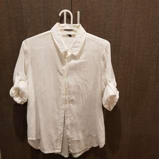 Kisses & Co. White Button Down Shirt