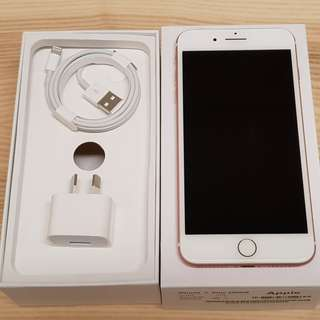 Like New iPhone 7 Plus Rose Gold 128GB - Warranty - Receipt