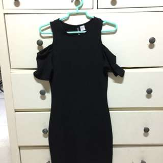 Cold shoulder h&m bodycon dress