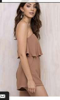 Strapless Camel Playsuit