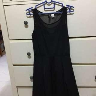 Mesh black h&m dress