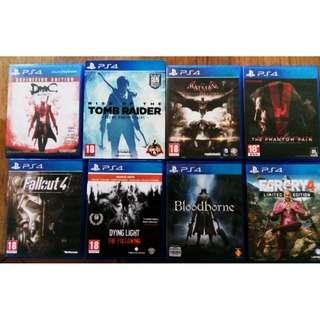 Games PS4 (Minimum 150.00)