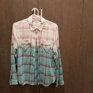 Aeropostale Plaid Button Down Shirt