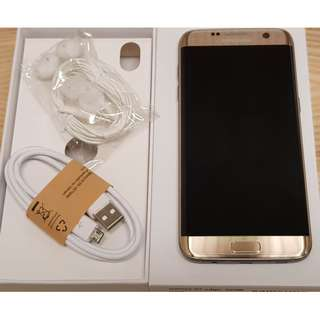 Perfect Samsung S7 Edge Gold - Warranty - Receipt