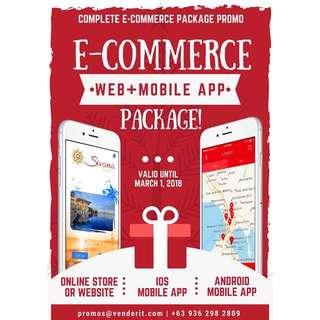 Web development  iOS Android Mobile App Development Package Ecommerce Website Developer
