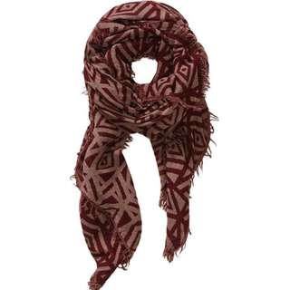 *REDUCED $40* Wilfred Pop Art Blanket Scarf Maroon