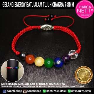 GELANG ENERGY BATU TUJUH CHAKRA 7-8MM