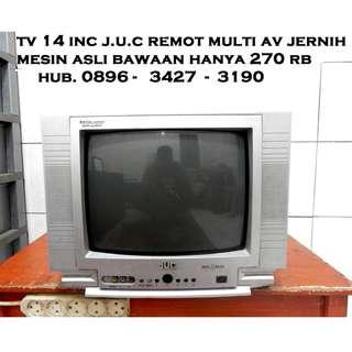 """Tv 14"""" J.U.C Keren Multi Av Jernih Suara Bagus KATAPANG SOREANG"""