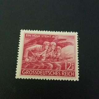 1944  德國郵票 有膠