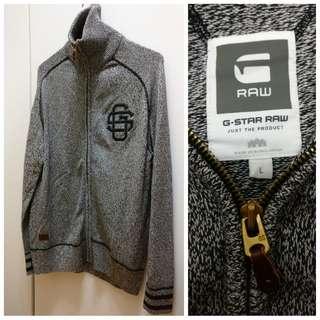 G-star raw cotton sweater jacket
