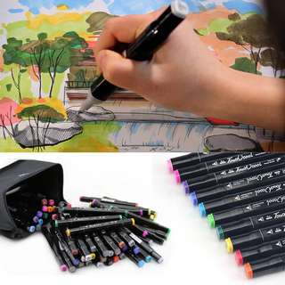 Touch cool touch five marker markers 80 colors black