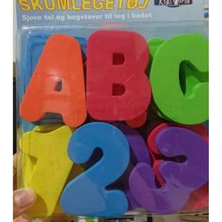 NEW IN BOX foam letters and numbers for bath