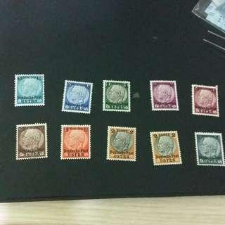 德國加蓋郵票