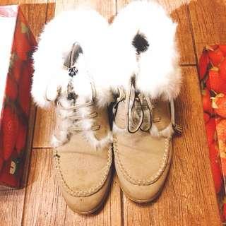 ANS毛毛短靴boots