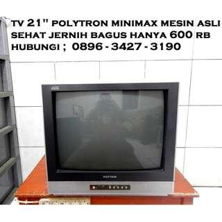 "Tv 21"" Polytron Minimax Mesin Asli Masih Segel Jernih Bagus KATAPANG SOREANG"