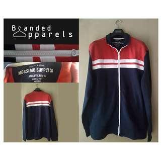 Atasan Jaket Red- White stripe navy blue