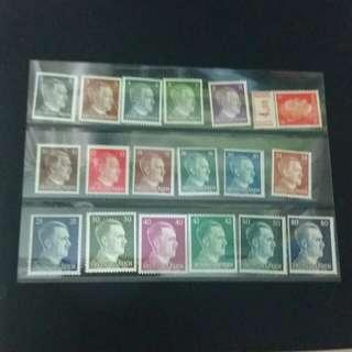 德國郵票部分有膠