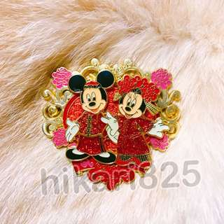 Disney pin 迪士尼 襟章 中式婚禮 米奇米妮