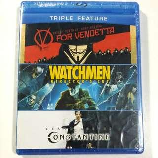 V For Vendetta / Watchmen Director's Cut / Constantine Blu-ray