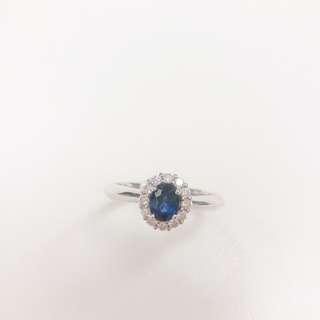 50份18k 鑽石 藍寶石 戒指 (訂造)