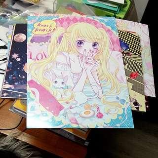 急售 槙陽子 浪漫時鐘複製畫全套29張 特裝版 含畫框 動漫商品 夢夢少女漫畫週邊