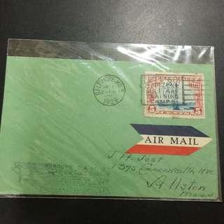 1929 美國首航空郵封