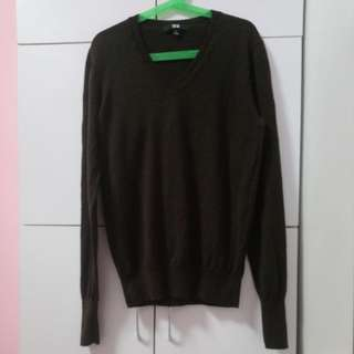 Brown Uniqlo Wool Sweater for Ladies