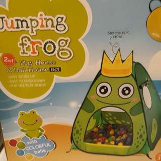 Kids jumping frog playhouse and ball house