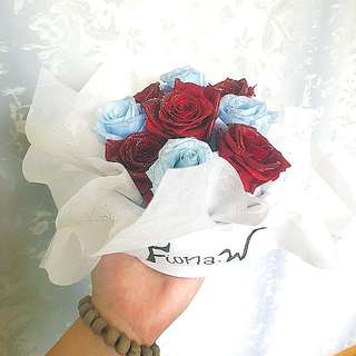 """Preserved 9-roses bouquet box - """"Long Lasting Love"""""""