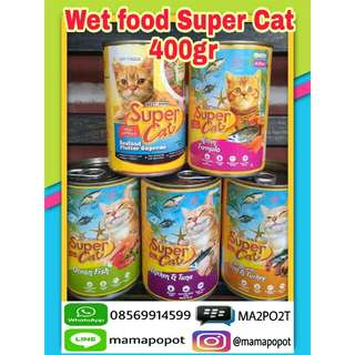 Super Cat Wet food 400gr - makanan kucing basah
