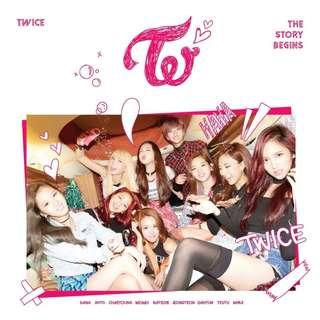 TWICE - 1st Mini Album / THE STORY BEGINS