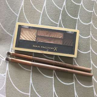 MAX FACTOR EYESHADOW + 2 BRUSH EYESHADOW