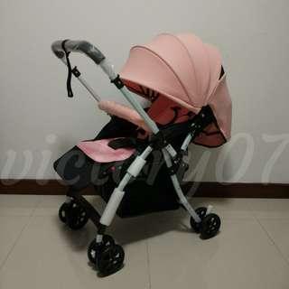 BN Lightweight Baby Stroller in Pink