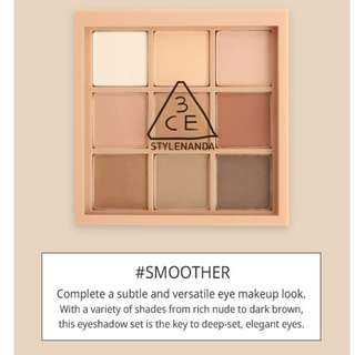 3CE Mood Recipe NEW Multi Eye Color Palette (#SMOOTHER)