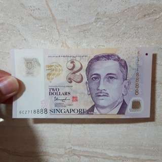 Money Note Two Dollars $2