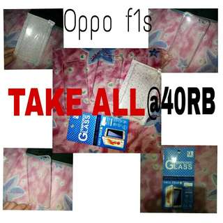 (for oppo f1s) 3 different cases + 1 tempered glass