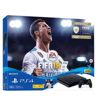 WTS- PS4 SLIM FIFA 2018 BUNDLE