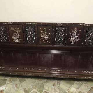 Rosewood bench chair