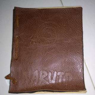 naruto leather notebook