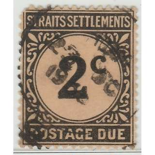 MALAYA 1924 Straits Settlements Postage Due 2c Used SG #D2 (M1323)