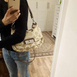 Brand:  Preloved Authentic Coach Kristin Op Art Sateen bag