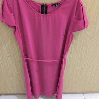 Ceil Midi Dress Pink
