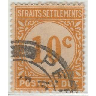 MALAYA 1924 Straits Settlements Postage Due 10c Used SG #D5 (M1325)