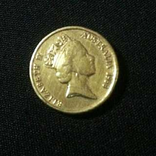 UNTUK DIJUAL  GOLD COINS 2 DOLLARS AUSTRALIA ELIZABETH II  1988