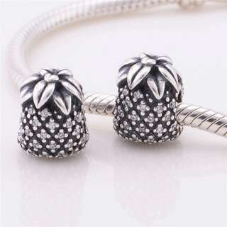 Code SS29 - Pineapple 100% 925 Sterling Silver Charm, Chain Is Not Included, Compatible With Pandora