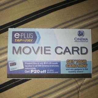 1-piece SM Movie Card (P200 worth)